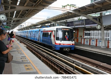 Thonburi Subway station (BTS) Bangkok Thailand 01/09/16 Time 14:30 Thonburi City, another Chaophraya River Expansion of both transport and residential construction.