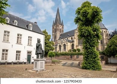 THORN, LIMBURG / THE NETHERLANDS - JUNE 7, 2018: View of the Abbey church in the town centre