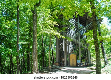 Thorncrown Chapel church in Eureka Springs, Arkansas, designed by E. Fay Jones.