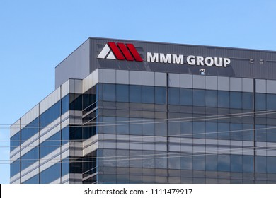 Thornhill,  Ontario, Canada - May 21, 2018: Sign and logo of MMM Group on the building of headquarters of WSP near Toronto in Thornhill. In 2015, WSP announced the acquisition of MMM Group.