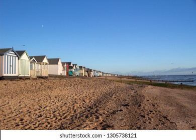 Thorpe Bay beach, near Southend-on-Sea, Essex, England