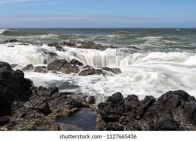 Thor's Well at Cape Perpetua, Oregon Coast, USA