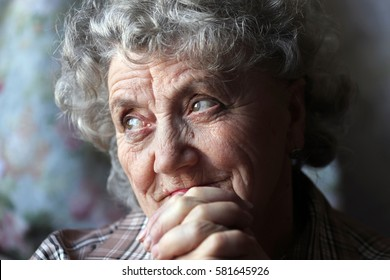Thoughtful grandmother portrait