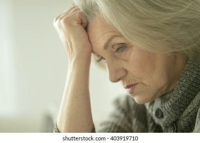 Thoughtful sad woman