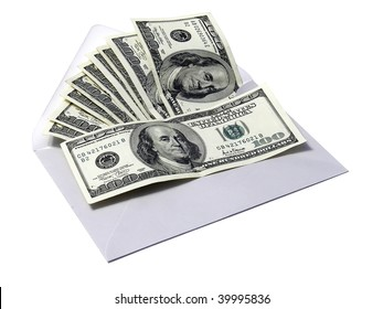 A thousand dollars in envelope
