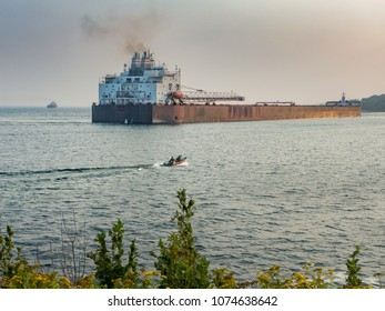 Thousand Footer backing out of the Agate Bay Ore Dock, Two Harbors, Minnesota