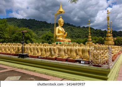 The Thousand golden Buddha at Magha Puja Memorial Buddhist Park, Nakhonnayok province, Thailand