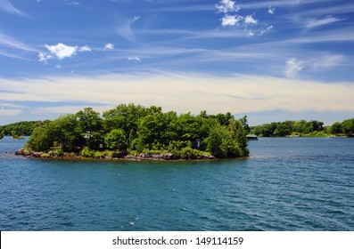 Thousand Islands National Park Ontario Canada near Kingston across from New York State, St,  Lawrence river