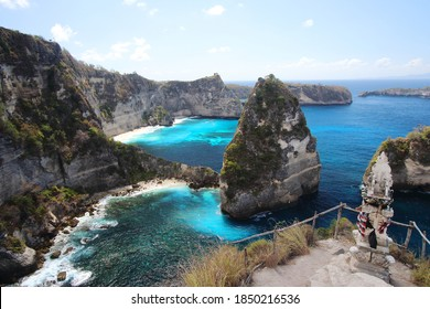 Thousand Islands Viewpoint, on of the most amazing spots in Nusa Penida Island, Indonesia, Bali.