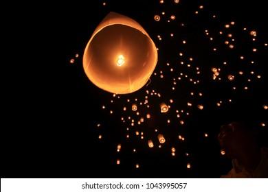 Thousand Lantern Waisak Day Borobudur