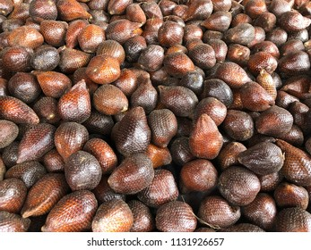 Thousand of Salak fruit ready for sell.