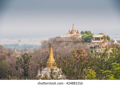 The thousand temples on Sagaing Hill on a summer's day