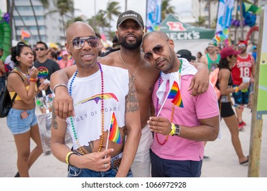 Thousands attend the Gay Pride Parae in Miami Beach, Florida