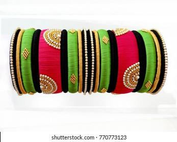 Thread Bangles Indian Fashion Silk Thread Jewelry Indian Jewellery silkthread jewellery