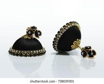 Thread Jhumka Indian Earrings