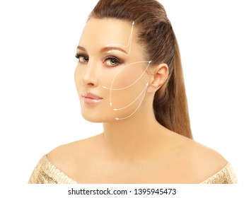 Thread Lift ,markup.Face marking.non-surgical lifting