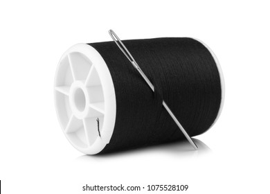thread needle isolated on white background.