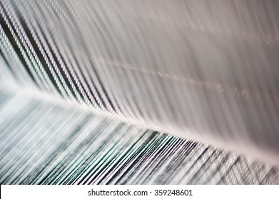 Thread from weaving machine ,Abstract background - selective focus.