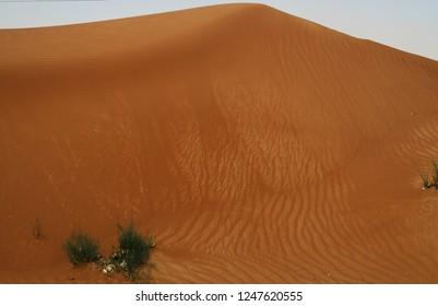 threatening wall of sand in Oman desert
