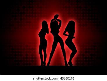 three babes posing