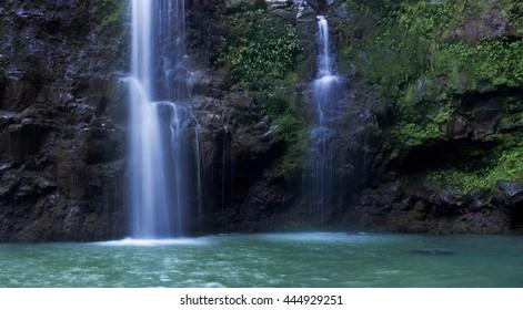 Three Bear Waterfall in Maui, Hawaii