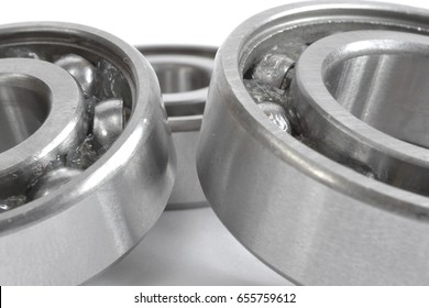 Three bearings on the white background.