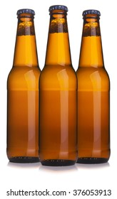 Three beer bottle