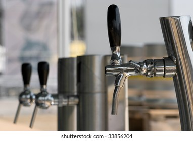 Three beer faucets