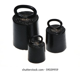 Three black weights