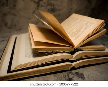 three books on the table