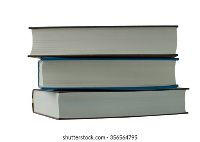 three books on a white background
