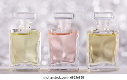 Three Bottles with Perfume