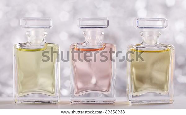 Three Bottles with Perfume