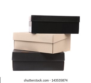 Three boxes isolated on a white background