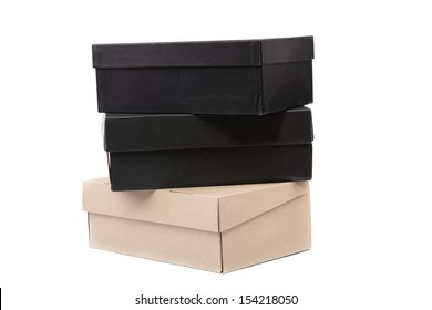 Three boxes. Isolated on a white background.