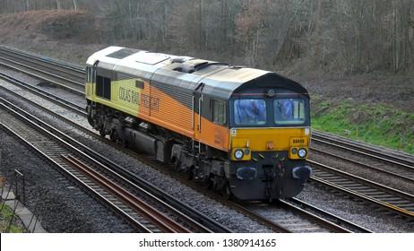 Three Bridges, England 20th Feb 2019 Class 66 loco