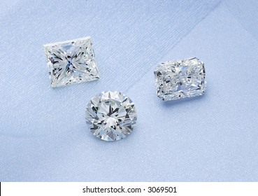 Three brilliant diamonds