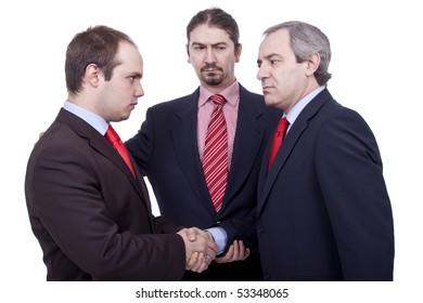 THREE  BUSINESS MAN