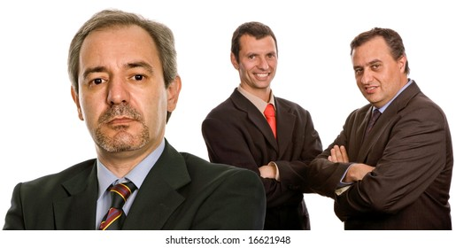 three business man isolated on white background