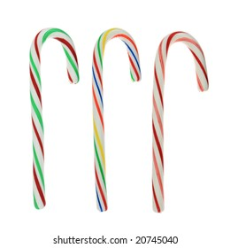 Three candy canes.
