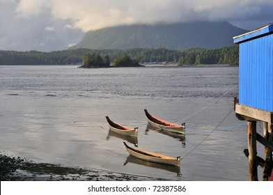 Three canoes