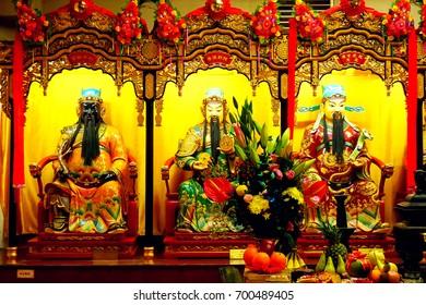 Three Chinese god.