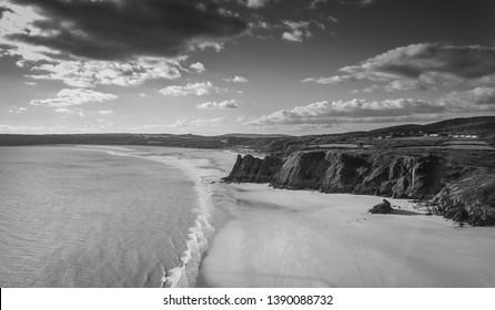 Three Cliffs Bay Gower Peninsula Wales Great Britain