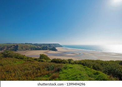 Three Cliffs Bay, Gower, Peninsula, Swansea, South Wales, UK