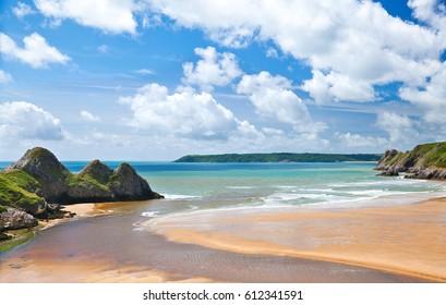 Three Cliffs Bay,  Gower, Wales, Swansea, UK