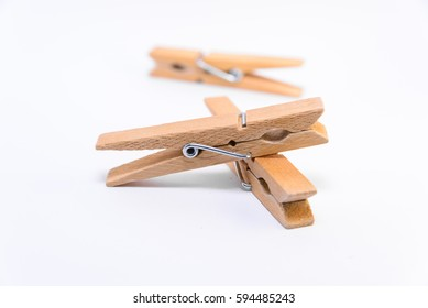 Three clothes clips