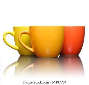 Three color coffee cup