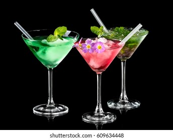 Three color spring cocktails