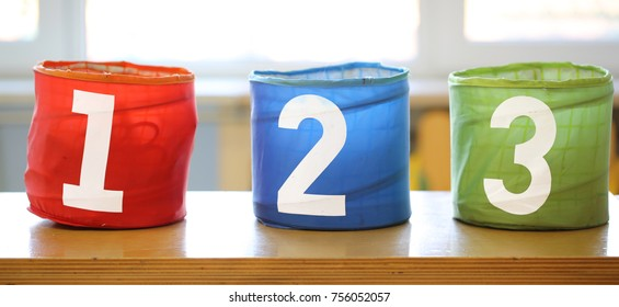 three colorful play jars with text 1 2 3