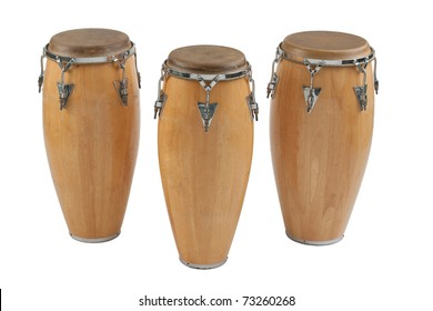 Three of congas the percussion of music band